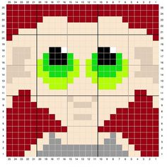 Check out this adorable Dobby perler bead square