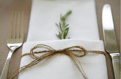 Rosemary Napkin   DIY Weddings