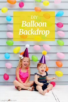 DIY Balloon Backdrop made from water balloons. Quick and easy backdrop perfect for a birthday party!
