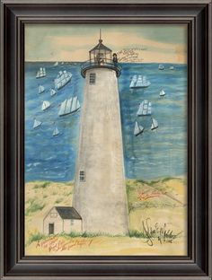 Great Point Lighthouse Framed Wall Art
