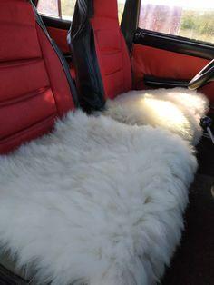Authentic Sheepskin SUV Van Truck Seat Covers 2pc Australian Soft Pad Cushion