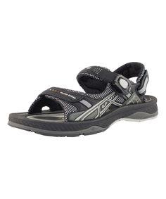 Black & Gray Dot Sandal - Adult