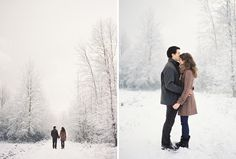 A Snowy Engagement Session By Bryce Covey