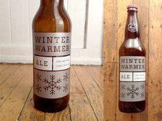 The latest bottle I designed for No-Li, Winter Warmer.  This one has metallic…