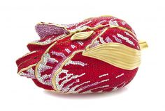 A Judith Leiber Red and Pink Crystal Tulip Minaudiere, : Lot 487