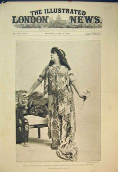 Sarah Bernhardt plays Cleopatre, 1892