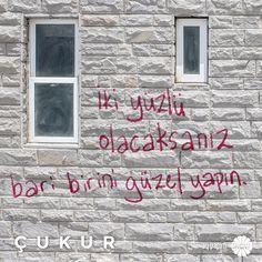 Sen de kendi cümleni söyle, lafın #Çukur duvarlarına yazılsın, adın ise Çukur tarihine! #ÇukurdaSözünGeçer @ayyapim @showtv Poem Quotes, Cool Words, Slogan, Sentences, Karma, Quotations, Cool Photos, Street Art, Tumblr