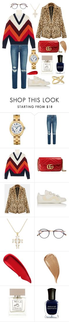 """""""You ripped out my heart"""" by theodor44444 ❤ liked on Polyvore featuring Cartier, Paige Denim, Gucci, adidas, Goossens, Garrett Leight, Sisley, Kevyn Aucoin, Bella Freud and Deborah Lippmann"""