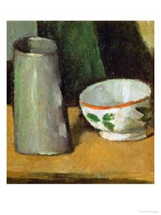 Milk Bowl and Jug, Around 1880 Giclee Print by Paul Cézanne at Art.com