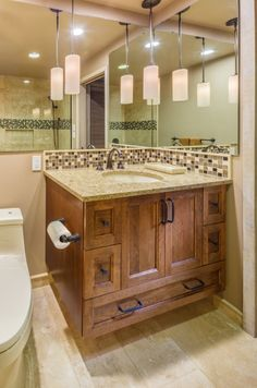 Warm Natural Environment Shower Created By Large Format Tile A Fun - Bathroom remodel olympia wa