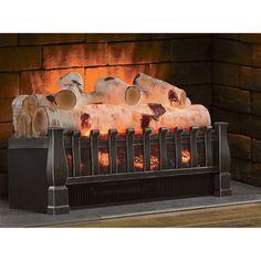 Duraflame Birch Electric Log Insert Heater U2014 4600 BTU, 1350 Watts