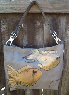 Hand painted New one of a kind purse gold by artbyKariMichelle, $68.00