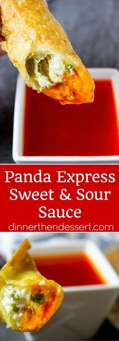 Panda Express Sweet and Sour Sauce is the perfect classic Chinese takeout dipping sauce that is bright red in color, sweet and acidic. The perfect dipping sauce for egg rolls, wontons and crispy wonton strips. Although I wouldn't add the food coloring. Sweet N Sour Sauce Recipe, Sweet Sauce, Panda Express Sweet And Sour Sauce Recipe, Chinese Sweet And Sour Recipe, Chinese Sweet And Sour Sauce Recipe, Wonton Sauce Recipe, Sauce For Eggs, Panda Express Recipes, Wontons