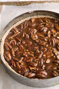 // pecan salty caramel tart.