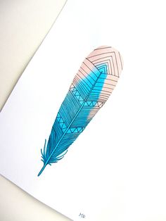 Hey, I found this really awesome Etsy listing at http://www.etsy.com/listing/83741783/watercolor-feather-art-painting-blue