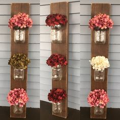 Mason Jar Wall Sconce Rustic Mason Jar Decor 3 in 1 Mason Handmade Home Decor, Diy Home Decor, Frame Crafts, Diy Crafts, Mason Jar Wall Sconce, Rustic Mason Jars, Rustic Wall Sconces, Decorated Jars, Christmas Delivery