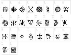 Bacata Muisca people symbols. Pictograms.