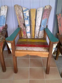 Balinese Recycled Boat Furniture Chairs - Hand Made | eBay