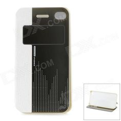 Color: White; Brand: HelloDeere; Quantity: 1 Piece; Material: PU; Shade Of Color: White; Compatible Models: IPHONE 4,IPHONE 4S; Style: Flip Open; Design: With Stand; Auto Wake-up / Sleep: Yes; Other Features: Can be a stand for better viewing; Protects the cell phone from dust, shock and scratches; Packing List: 1 x Case; http://j.mp/1uOyAhv