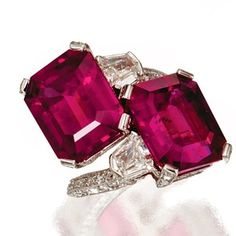 GABRIELLE'S AMAZING FANTASY CLOSET | Rubellite Bulgari Tourmaline, Diamonds Ring | You can see the Rest of the Outfit and my Remarks on this board. - Gabrielle