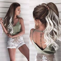 50 Best Stunning Hair Color Ideas For Long Hair Styles This Years ~ Fashion & De… – cabelo Hair Color Highlights, Ombre Hair Color, Hair Color Balayage, Long Hair Colors, White Ombre Hair, Onbre Hair, Pretty Hairstyles, Popular Hairstyles, Wedding Hairstyles