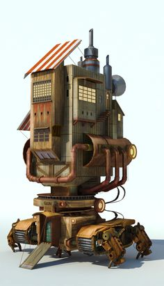 Mechanical House by ahuang07 | Sci-Fi | 3D | CGSociety