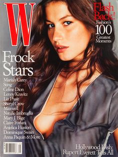 Gisele Bündchen, Michael Thompson, W Magazine May 1999 Cover Photo - United States W Magazine, Fashion Magazine Cover, Fashion Cover, Magazine Covers, 1999 Fashion, Women's Fashion, Vintage Fashion, Gisele Bundchen, Liz Phair