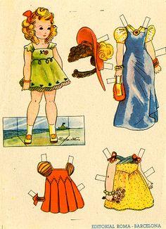Spanish Paper Dolls