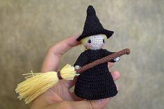Malka Doll: A Witch (amigurumi, handmade; crochet; home decor; Halloween)
