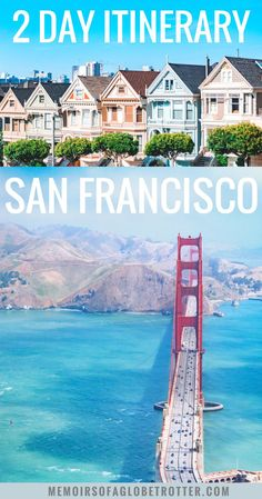 Learn about must-see attractions and activities in this itinerary for San Francisco. With its Golden Gate Bridge, sea lions, parks, Victorian houses and delicious food, San Francisco has plenty of activities for everyone! Weekend In San Francisco, San Francisco Travel Guide, San Francisco Must See, Spring Break Destinations, Travel Destinations, Weekender, Travel Usa, Travel Tips, Travel Packing