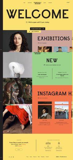 Home - Frans Hals Museum Website Layout, Web Layout, Layout Design, Ui Ux Design, Interface Design, Graphic Design, Flat Design, Digital Web, Mobile Web Design