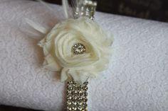 Wedding Bridal Garter Rhinestone Ivory by Madelinelittleboutiq, $29.95