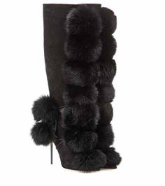 Deeta fur and suede boots | Jimmy Choo