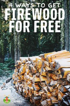 Free Firewood: 4 Options for Finding and Harvesting Your Own Firewood Off Grid Homestead, Homestead Farm, Homestead Survival, Survival Skills, Survival Gear, Worm Farm, Off The Grid, Alternative Energy, Sustainable Living