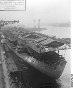 German aircraft carrier Graf Zeppelin fitting out by umbry101, via Flickr