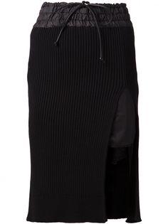 SACAI LUCK - Ribbed Knit Skirt - 15SSLU874 BLACK - H. Lorenzo