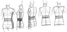 fashin design rough sketch | rough sketch of the torso