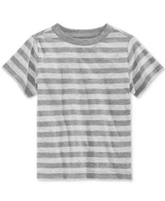 First Impressions Striped Jersey T-Shirt, Baby Boys (0-24 months), Only at Macy's - Gray 3-6 months