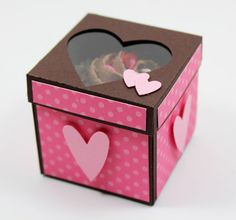 """Yummy """"Mini Cupcake Box"""", perfect for Valentines Day!  Awesome video tutorial too!  Made by Beth Beard.  ♥♥♥"""