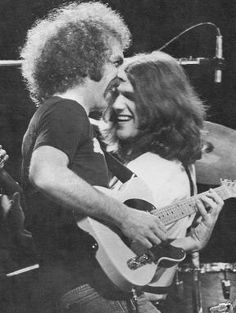 Eagle members Bernie Leadon and Glenn Frey - 1973