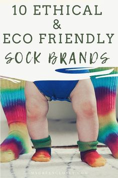 If you're looking to incorporate items in your closet that are ethical and eco-friendly, socks can be a great option. Due to easy sizing and lower price point (in comparison to other sustainable and ethical clothing brands), they are a great starting point. This post contains 10 sustainable and ethical sock brands that also happen to be super cozy! Click through to check it out. #sustainablefashion #ethicalfashion Ethical Clothing, Ethical Fashion, Sustainable Clothing, Sustainable Fashion, Neutral Socks, Lost Socks, Waste Reduction, Bamboo Socks, Patterned Socks