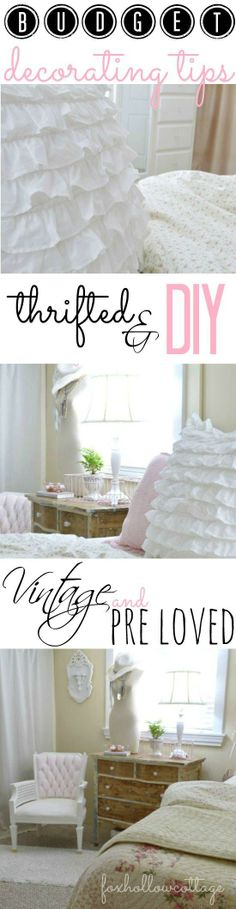 BUDGET Decorating Tips:: for vintage, thrift store, diy, painted furniture and more!...