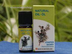 Vivasan Wacholderbeerenöl hat einen starken, würzigen Geruch und eignet sich vor allem zur Entgiftung und Entwässerung des Körpers. Es hat zudem eine antirheumatische Wirkung und wird daher gerne