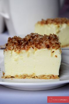Ciasto śnieżny puch Polish Desserts, Polish Recipes, Cookie Desserts, Puch Recipe, Different Cakes, Food Cakes, Homemade Cakes, Cake Recipes, Food And Drink