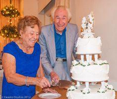 Caroline and Charlie anniversary bash imagery by Ewasko. 60 Year Anniversary, Vanilla Cake, Desserts, Style, Tailgate Desserts, Swag, Deserts, Postres, Dessert