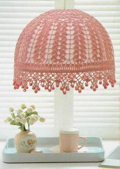 Bohemian DIY Decor: 10 Projects for a Colorful, Layered & Eclectic Look. this Crochet lampshade is really nice!