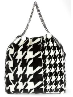 Shop Stella McCartney houndstooth 'Falabella' bag in Nida from the world's best independent boutiques at farfetch.com. Over 1000 designers from 300 boutiques in one website.