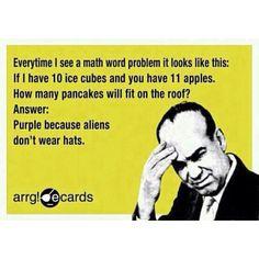 High school math...