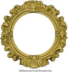 Vintage Gold Frame - Round by ~EveyD on deviantART