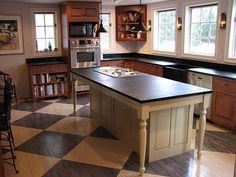 Hybrid farm table/kitchen island.